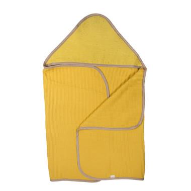 Waffle Honey – duży ręcznik kąpielowy 140×70 cm z kapturem