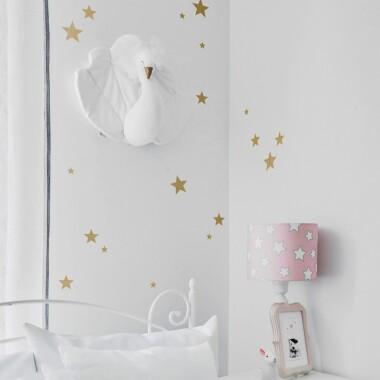 Naklejki na ścianę gwiazdki złote