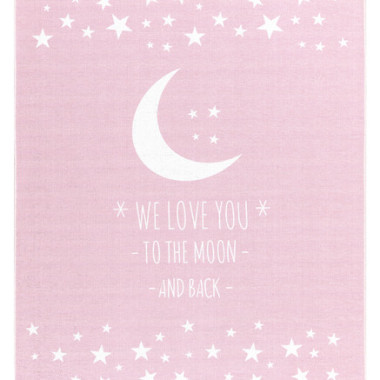 DYWAN LOVE YOU MOON- RÓŻOWY