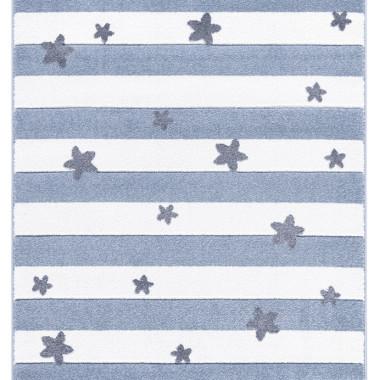 Przepiekny dywan dziecięcy STARS&STRIPES nada niepowtarzalnego charaktery każdemu pokoikowi dziecięcemu.  Udogodnienia i funkcje:  Są miękkie, przytulne, nadają ciepła i słodyczy każdemu wnętrzu .  Dywan został zrobiony z wytrzymałego polipropylenu, więc łatwo się go czyści. Poza tym jego kolory pozostaną długo intensywne i piękne.  Dywan dostępny jest w różnych rozmiarach.   Materiał : 100% Polipropylen  Grubość dywanu: 20 mm  Dostępne wymiary: 120x180 cm / 160x230 cm  Nie wysyłamy dywanów za pobraniem.  CZAS OCZEKIWANIA NA REALIZACJĘ ZAMÓWIENIA USTALANY JEST INDYWIDUALNIE - W ZALEŻNOŚCI OD PRODUKTU WYNOSI OKOŁO 5 DNI ROBOCZYCH.