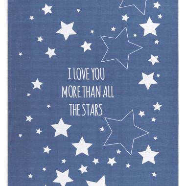 DYWAN LOVE YOU STARS NIEBIESKI