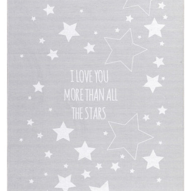 DYWAN LOVE YOU STARS SZARY