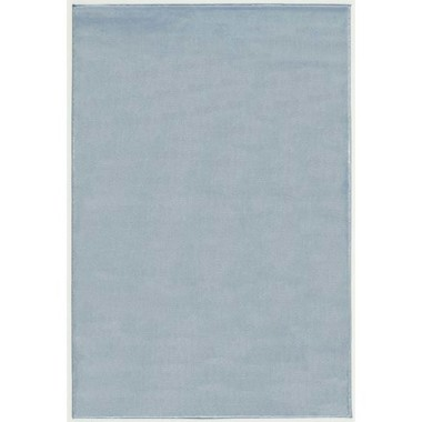 Niebieski gładki dywan do pokoju dziecka