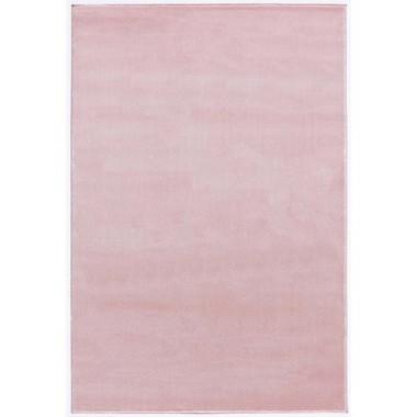 Różowy gładki dywan do pokoju dziecka