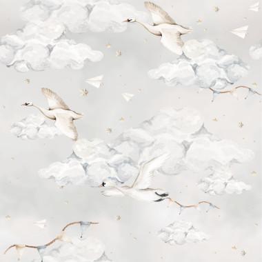 Łabądki na niebieskim niebie Tapeta