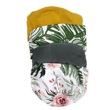 Zestaw maseczek bawełnianych. Maski natysmogowe, ochronne, korona wirus. Wzory kwiatowe, leśne.