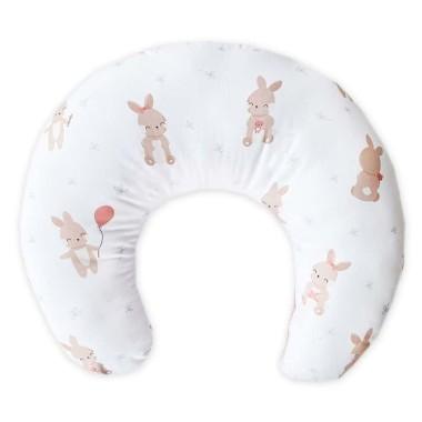 Dwustronna poduszka do karmienia,wykonana z wysokogatunkowej bawełny z pięknym wzorem w Balonowe Przyjęcie Króliczka.