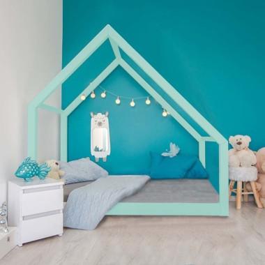 Łóżko domek drewniane Cleo Kolor