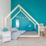 Łóżko domek dla dzieci Cleo naturalne