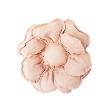 Kwiat dekoracyjny na ścianę/ ozdoba do pokoju dziecka. Różowy/ morelowy/ brzoskwiniowy kwiat