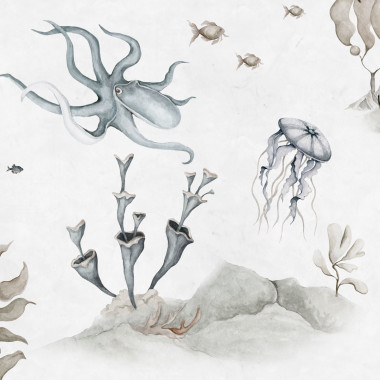 Tapeta Podwodny Świat White