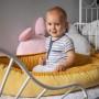 Kokon niemowlęcy/ dla noworodka welurowy ozdobny, elegancki. żółty