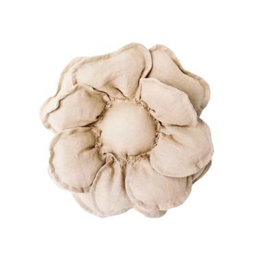 Kwiat dekoracyjny na ścianę/ ozdoba do pokoju dziecka. Beżowy kwiat