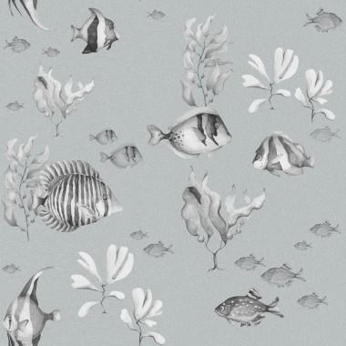 Tapeta do pokoju dziecka-rybki, jezioro, morze, ocean. Rybki w wodzie-tapeta.