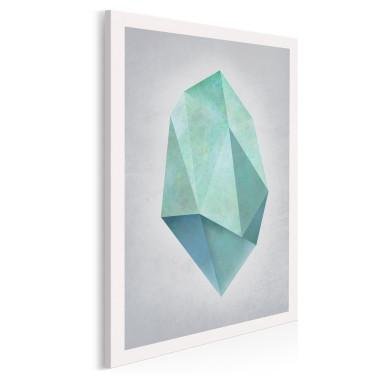 Nieoszlifowany diament - nowoczesny obraz na płótnie - w pionie