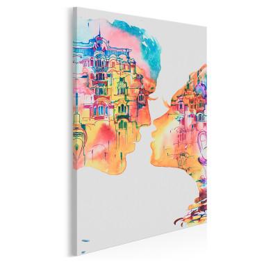 Romans w Barcelonie - nowoczesny obraz na płótnie - w pionie