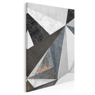 Betonowy las - nowoczesny obraz na płótnie - w pionie