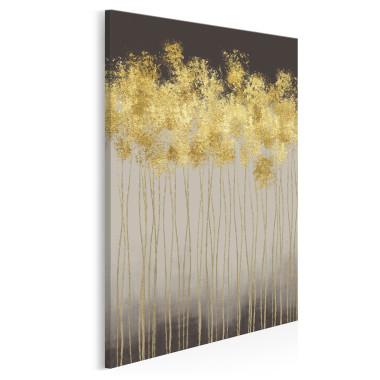 Złoty deszcz - nowoczesny obraz na płótnie - w pionie