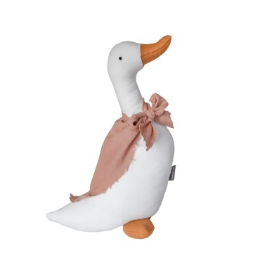 Lniany gąsiorek będzie stylowym dopełnieniem każdego pokoiku dziecięcego jako podusia, przytulanka lub dekoracja na półce