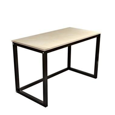 Biurko DES3-PRO stworzy dla ciebie duże, ergonomiczne i piękne miejsce pracy. Minimalistyczne biurko/stół z drewnianym bladem i czarnymi nogami