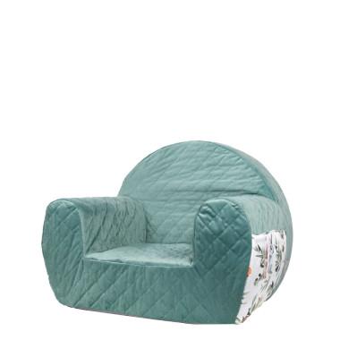 Velvet Green/Flowers – fotelik dla dziecka