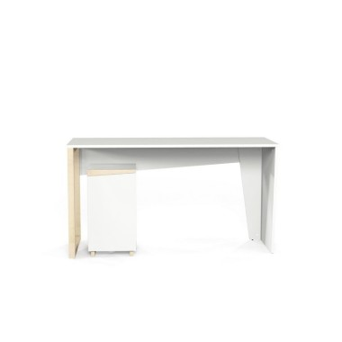 Zestaw do pracy składający się z dwóch Biurka EDGE2 oraz Kontenerka EDGE2. Biało drewniane minimalistyczne, skandynawskie biurko.