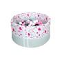 Suchy basen z kulkami – Różowe serduszka