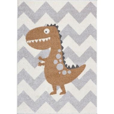 Dywan do pokoju dziecięcego z bursztynowym dinozaurem.