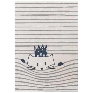 Kremowy dywan z zabawnym motywem do dziecięcego pokoju.