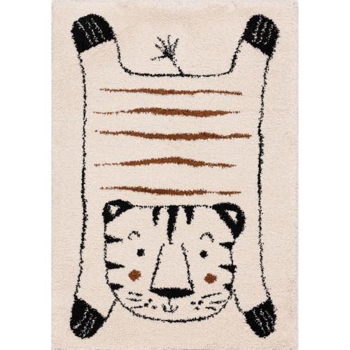 Mięciutki dywan do pokoju dziecięcego z motywem tygryska.