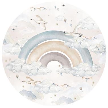 Rainbow In A Circle Dwa Warianty: Boy- naklejka na ścianę do pokoju dziecka- tęcza