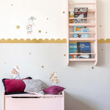 Circles Gold- naklejki na ścianę / tapeta ze złotem