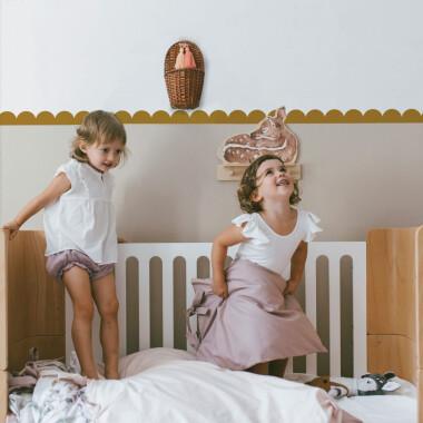 Circles Mustard- ozdobna naklejka na ścianę do pokoju dziecka, tapeta do pokoju dziecka