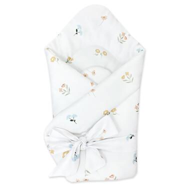 Dwustronny rożek niemowlęcy wykonany z wysokiej jakości bawełny w Łąka.