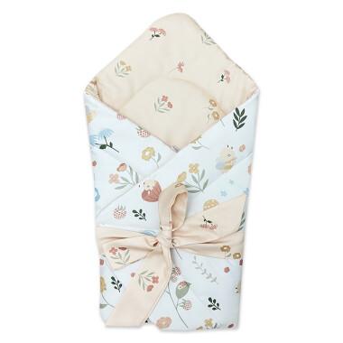 Dwustronny rożek niemowlęcy wykonany z wysokiej jakości bawełny.