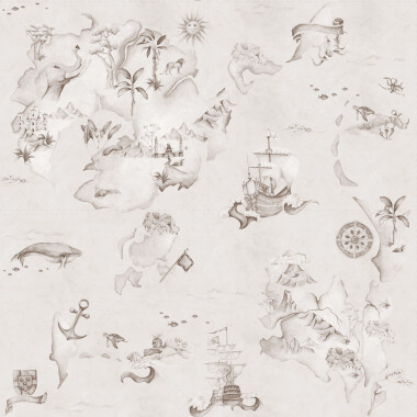 Tapeta Mapa Stories From The Sea Sepia