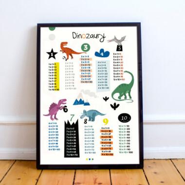 Dinozaury. Tabliczka mnożenia 2