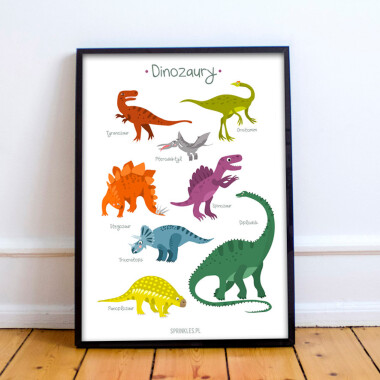 Dinozaury. Białe tło.