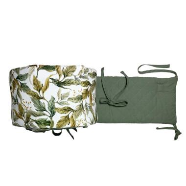 Amazonia – ochraniacz na całe łóżeczko 140×70 cm (420 cm) lub 120×60 cm (360 cm) pikowany, z nadrukiem