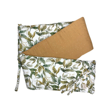 Ochraniacz na boki łóżeczka wykonany z wysokiej jakości tkaniny posiadającej certyfikat