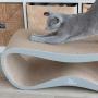 Draak dla kota z tektury falistej. Ładny drapak/łóżko dla kota