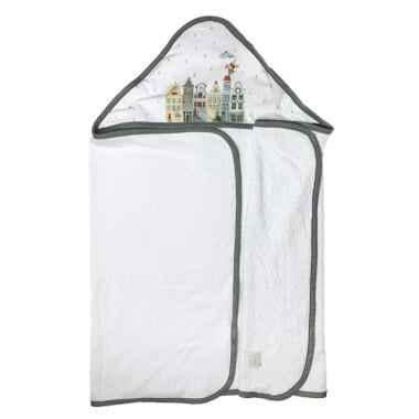 Amsterdam – duży ręcznik kąpielowy z kapturem 140×70 idealny na basen!