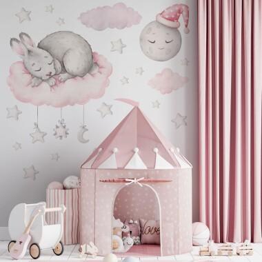 Sweet Dreams Króliczek - Naklejki Na Ścianę, Naklejki Ścienne