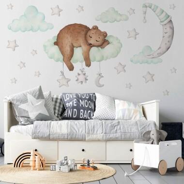 Sweet Dreams Niedźwiadek - Naklejki Na Ścianę, Naklejki Ścienne