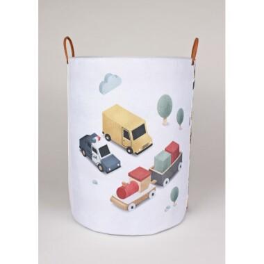 Komplet pojemników z pojazdami do pokoju dziecka