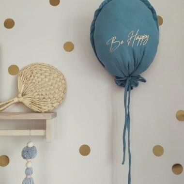 balon muślinowy zawieszka dekoracja brudny niebieski