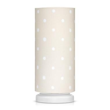 lampka nocna w kropki do pokoju dziecka