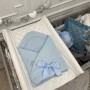 Niebieski rożek niemowlęcy
