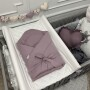 Rożek szara lawenda -becik niemowlęcy