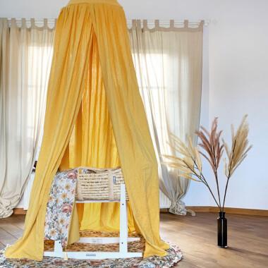Baldachim do pokoju dziecięcego - kolor żółty - blink honey